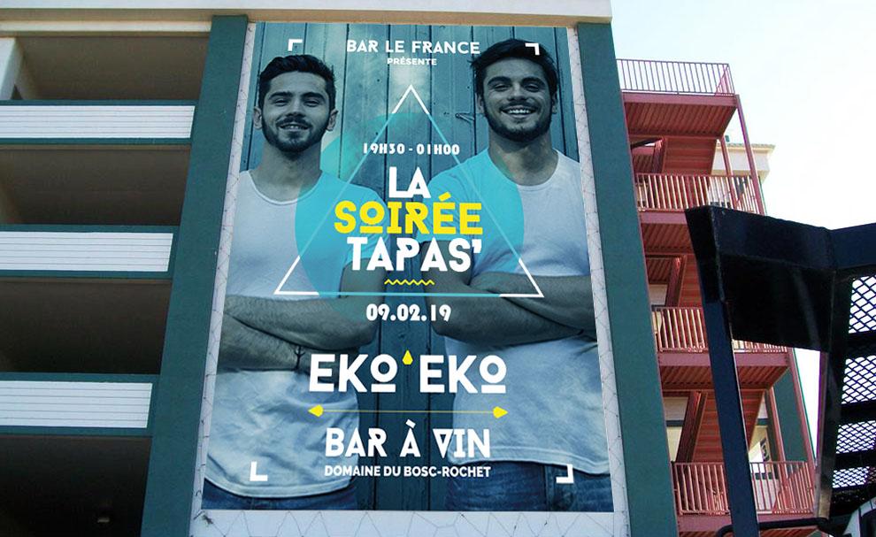 Affiche Bar Le France